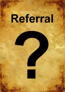paper with word referral