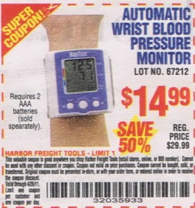 Harbor Freight for BP Monitor